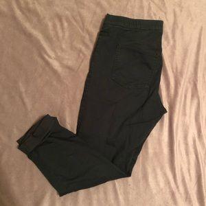 Green H&M skinny jeans